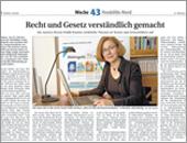 Recht und Gesetz verständlich gemacht - Artikel von Sylvia Richter in der Berliner Woche