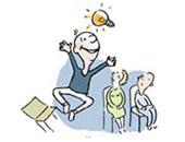 Erhellende PowerPoint-Folien wirken (Zeichnung: Ildikó Zavrakidis)