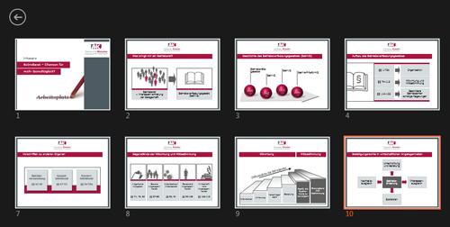 Referentenansicht PowerPoint 2013 - Alle Folien