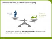 Defensiver Notstand, § 228 BGB: Güterabwägung
