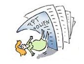 Illustration PowerPoint-Folien erschlagen (Ildikó Zavrakidis)
