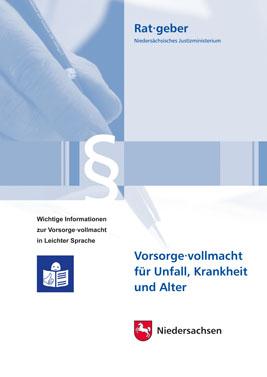 Ratgeber Vorsorgevollmacht Leichte Sprache Cover