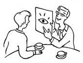 Schaubilder in der Beratung einsetzen (Zeichnung: Ildikó Zavrakidis)