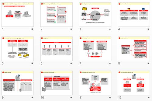 einheitlich und dennoch abwechslungsreich gestaltete folien - Powerpoint Prasentation Beispiele
