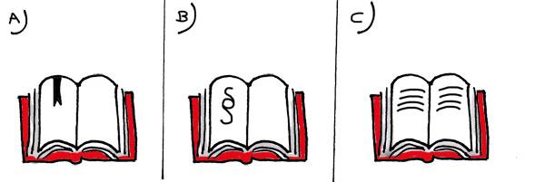Gesetzbuch zeichnen - aufgeschlagen - Seitengestaltung