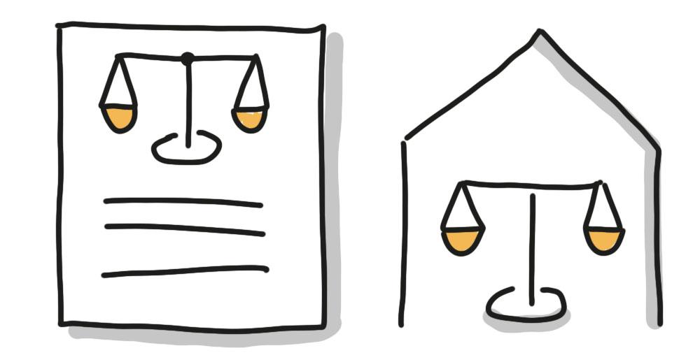 Urteil und Gericht