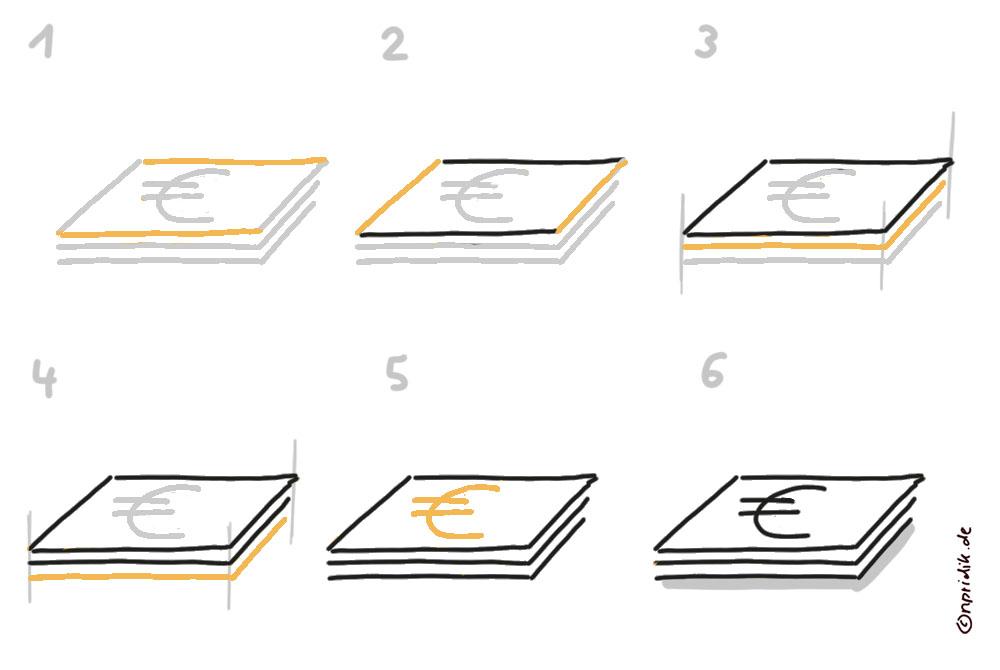 Geldscheine zeichnen