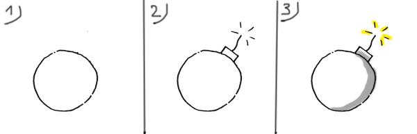 Die Bombe als Bildvokabel