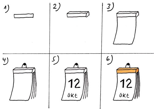 Tageskalender zeichnen