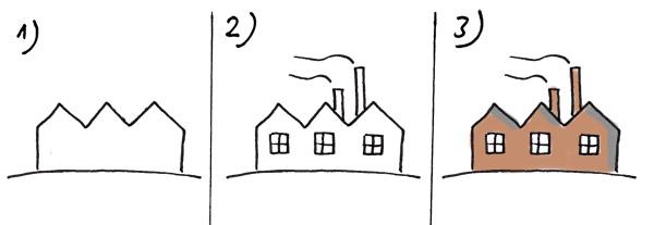 Fabrik zeichnen