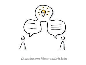 Gemeinsam Ideen entwickeln