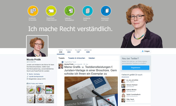 Twitter-Account von Nicola Pridik