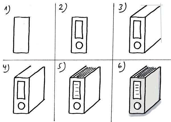 Aktenordner-zeichnen