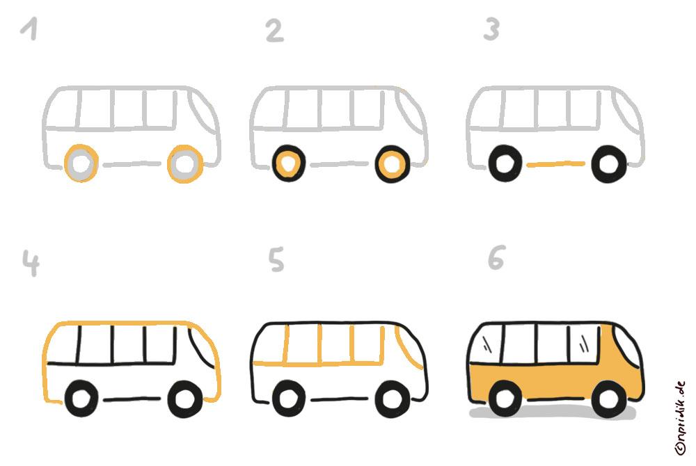 Bus zeichnen