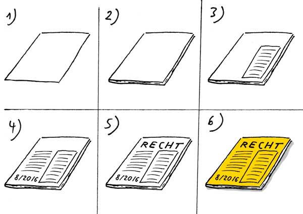 Juristische Fachzeitschrift zeichnen