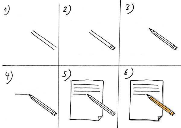 Niederschrift zeichnen
