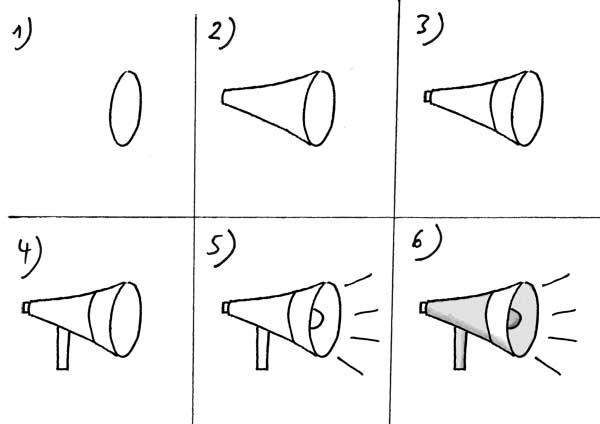Megafon zeichnen