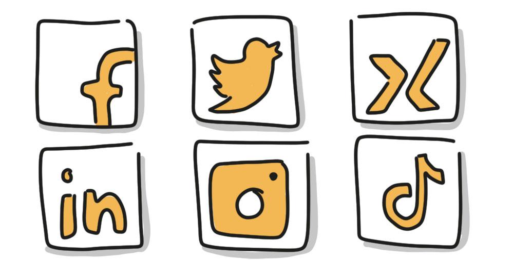 Soziale Netzwerke - Logos