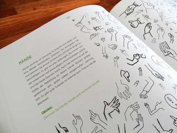 Blick ins Buch von Anja Weiss: Hände