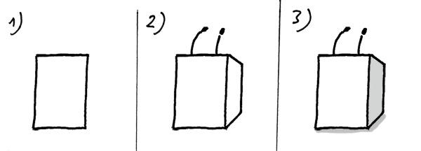 Rednerpult zeichnen