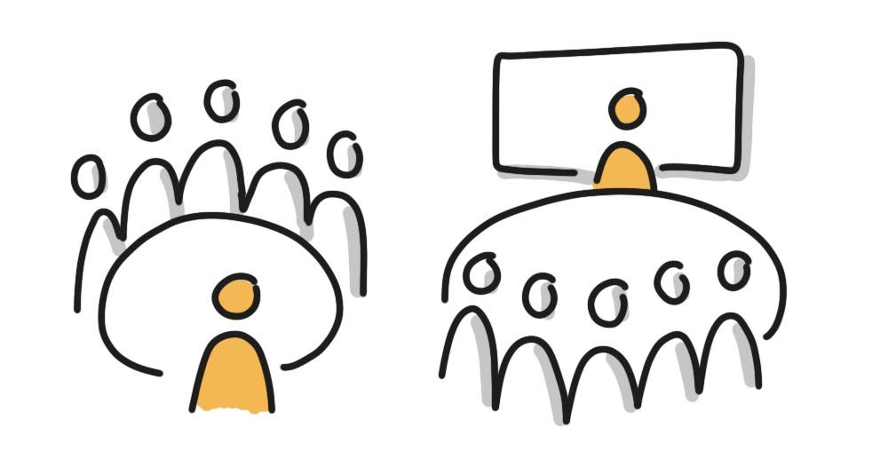 Bewerbungsgespräch und Präsentation im Team