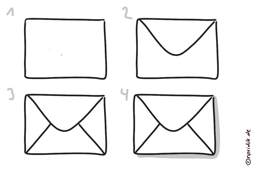 Briefumschlag zeichnen