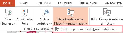 Screenshot PowerPoint: Zielgruppenorientierte Präsentationen