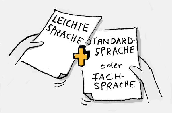 Leichte-Sprache-Texte ergänzen Texte in Standardsprache oder Fachsprache