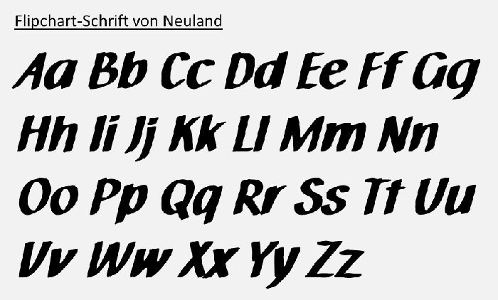 Flipchart-Schrift von Neuland