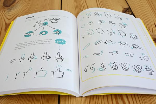 Blick ins Sketchnote-Buch von Ines Schaffranek