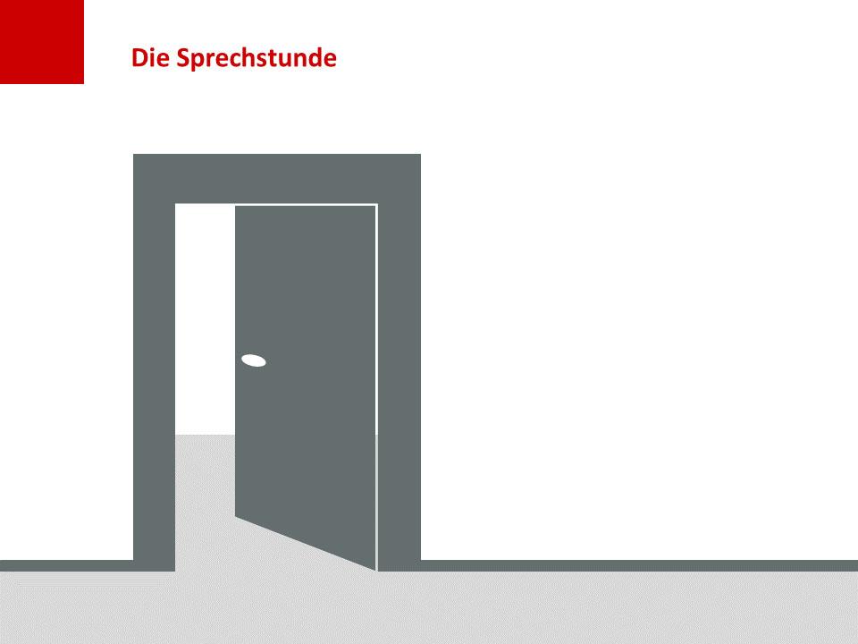 Folie Sprechstunde: Tür mit Fußleiste und Boden