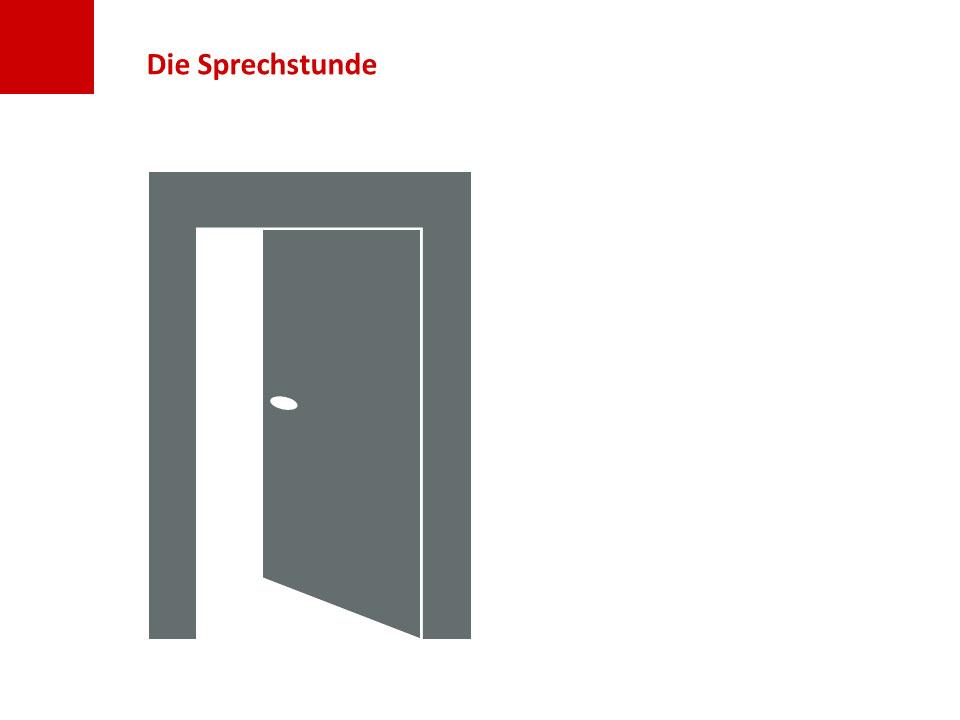 Folie Sprechstunde: Tür