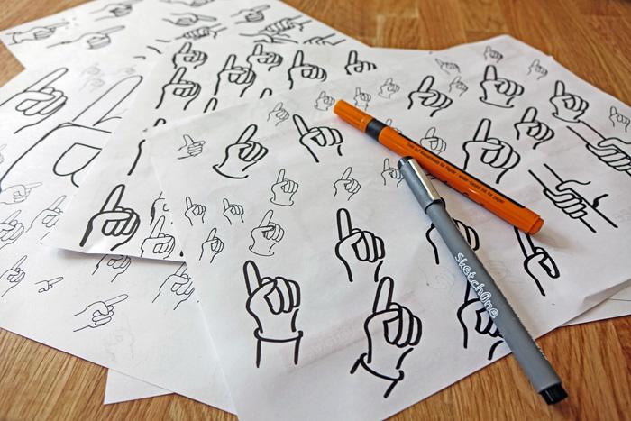 Hände zeichnen üben