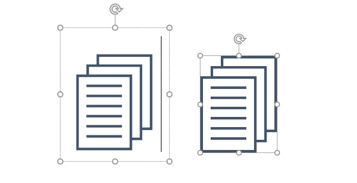 Dokument-Symbol im Textfeld und als Vektorgrafik