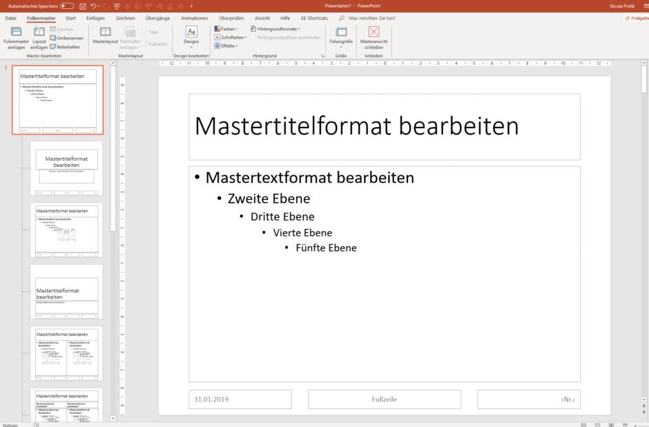Powerpoint Eigene Präsentationsvorlagen Erstellen Speichern Und