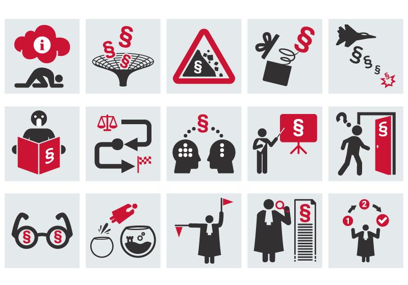 Symbolsammlung Kommunikation und Recht von Miroslav Kurdov (SketchLex)
