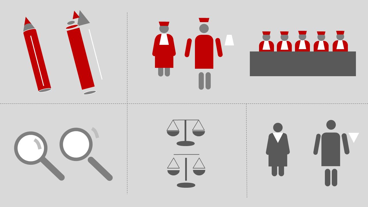 Beispiele für Icons, die in PowerPoint aus Formen zusammengebaut wurden