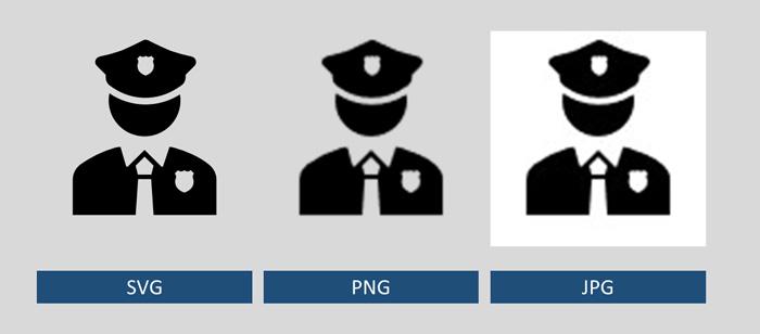 Icon Polizist als SVG-, PNG- und JPG-Datei