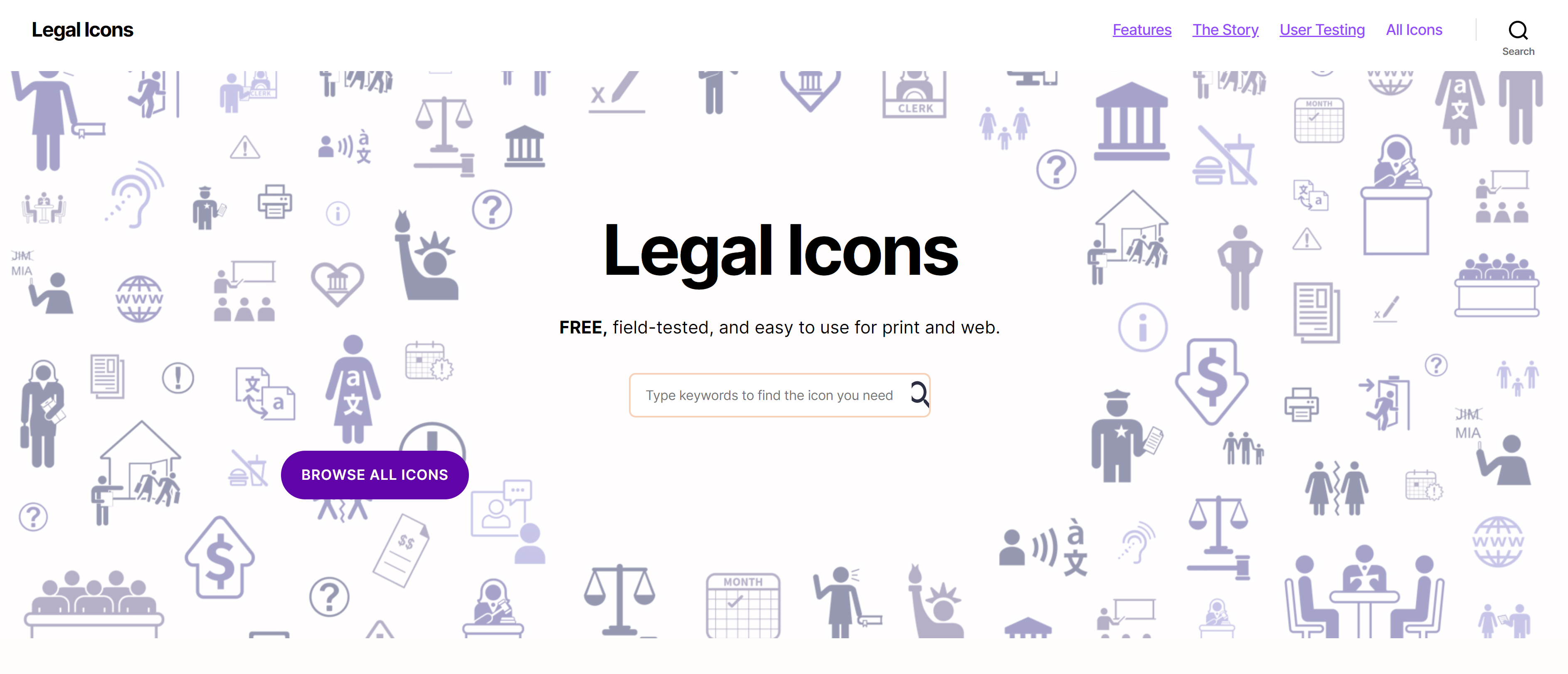 Screenshot Transcend Legal Icons