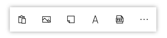 Screenshot Microsoft Whiteboard: lokales Menü Zeichenfläche