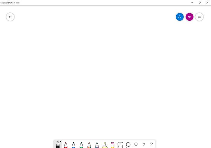Startbildschirm Microsoft Whiteboard