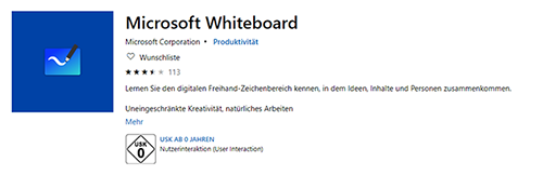 Microsoft Whiteboard im Microsoft Store