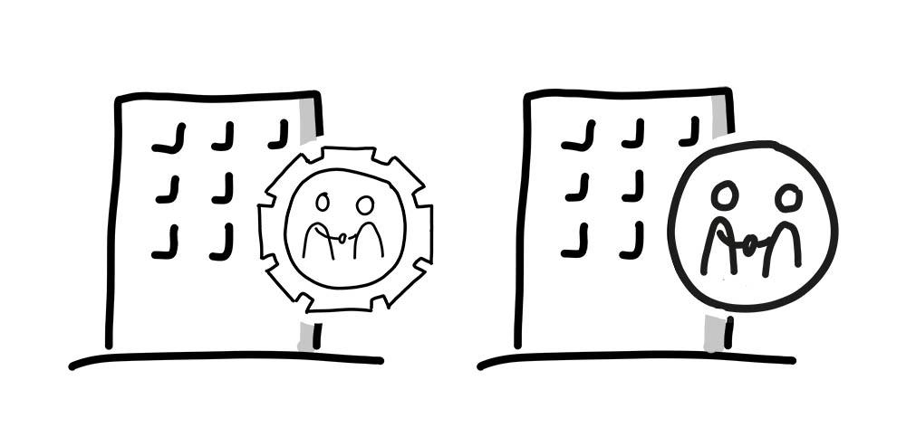 Bildvokabel Auftragsverarbeiter in zwei Varianten