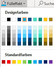 Farbpaletten in PowerPoint: Design- und Standardfarben