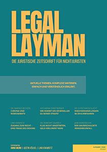 Cover Legal Layman - Die juristische Zeitschrift für Nichtjuristen