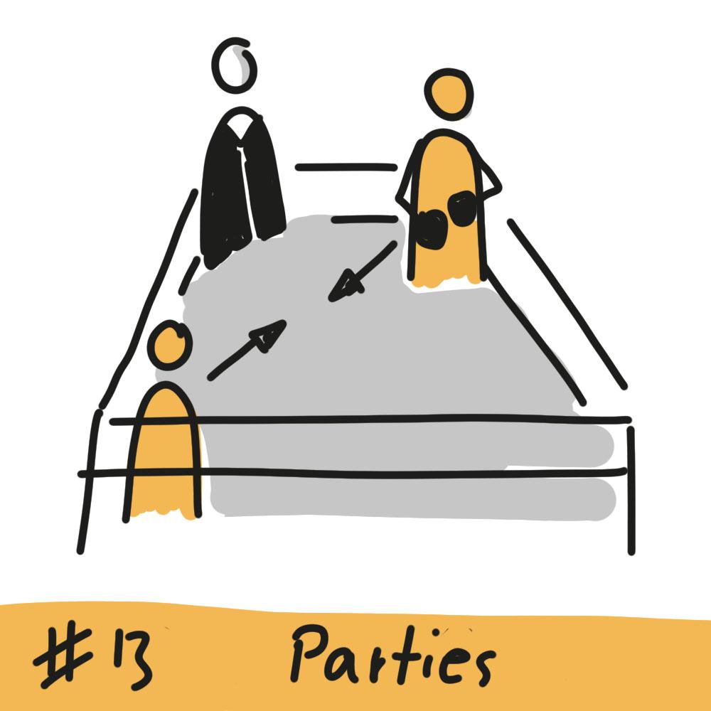 Boxring mit Person in Robe als Schiedsrichter