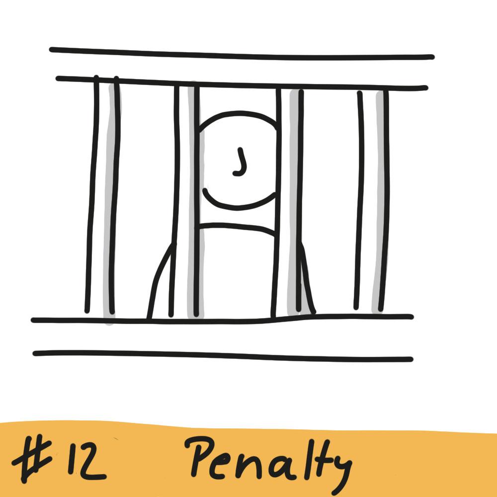 Person hinter Gitterstäben