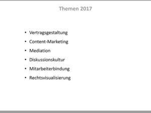 Brainstorming-Liste