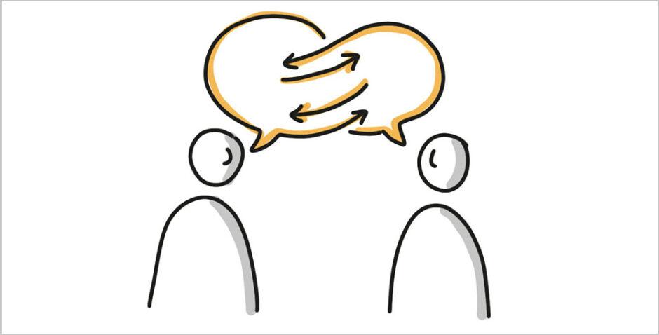 Menschen im Gespräch
