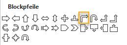 Screenshot PowerPoint: Blockpfeile